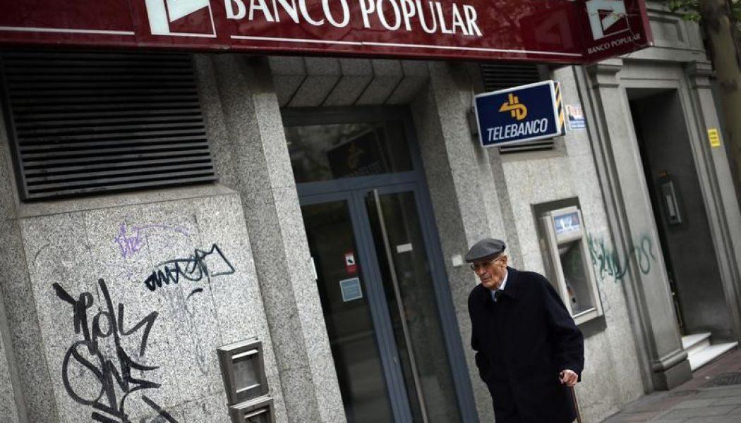 Avrupa bankaları Banco Popular'ın 20%'lik düşüşüyle baskı altında